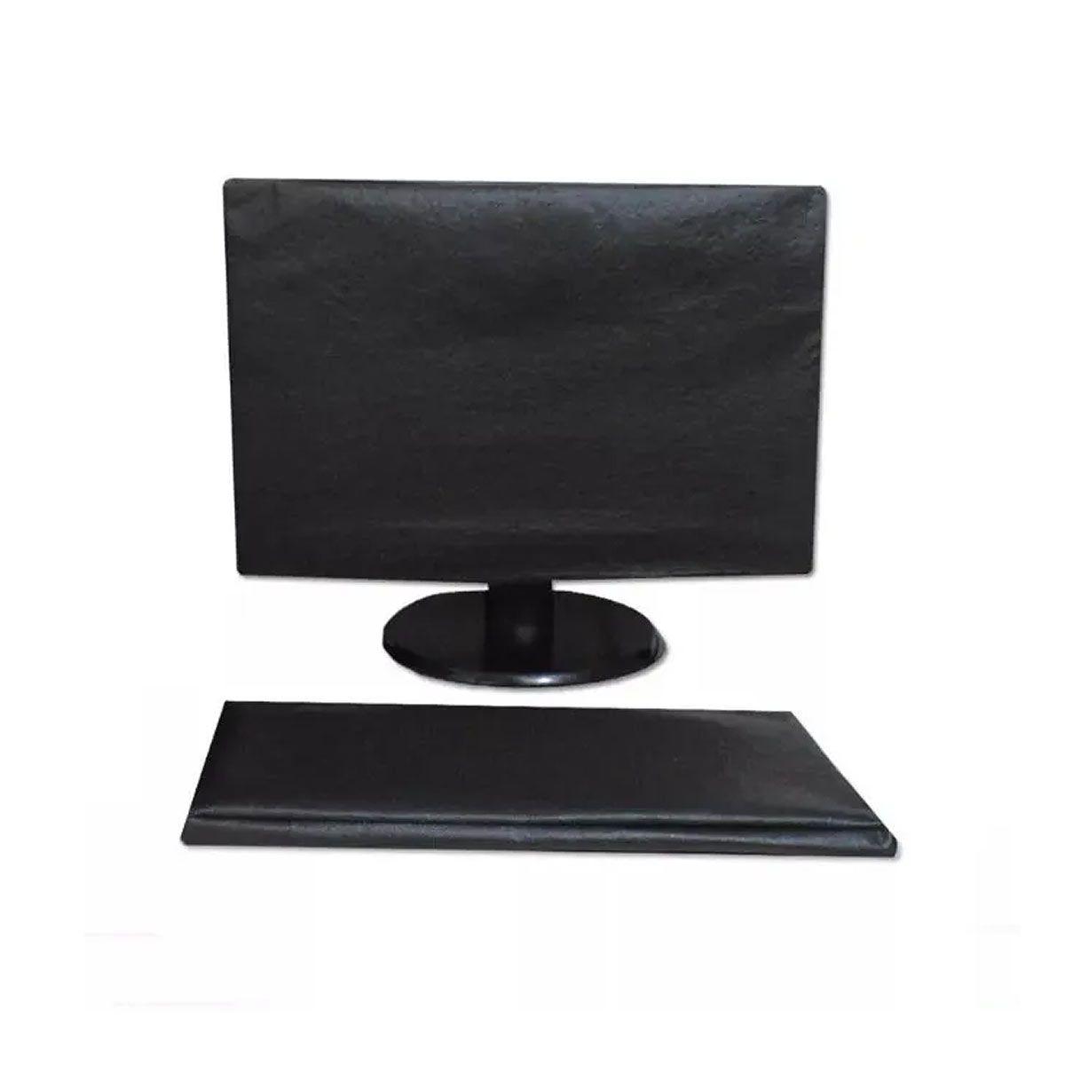 Capa Para Monitor E Teclado - Em Corino - Luxo