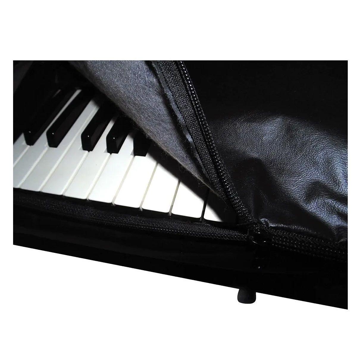 Capa Para Teclado Musical 5/8 Com Zíper Yamaha, Korg, Roland