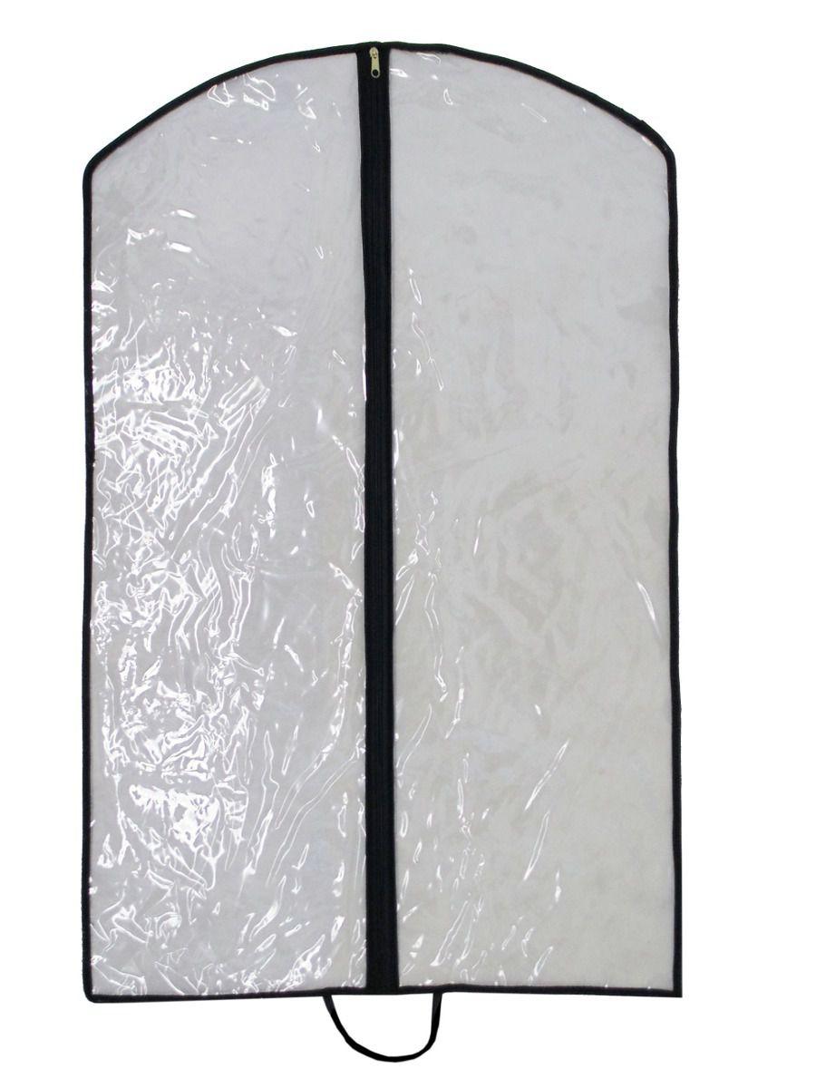 Capa para Terno e Roupas Transparente em PVC Cristal Impermeável