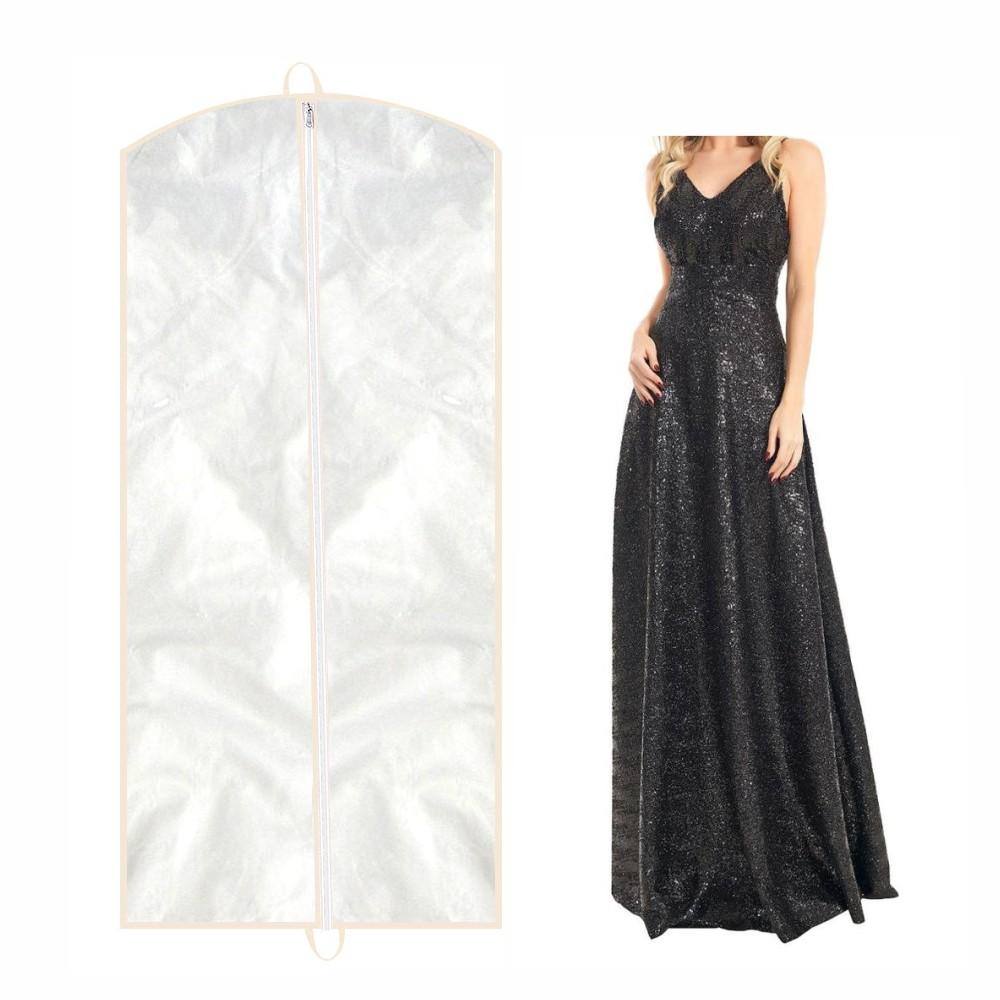Capa para Vestido de Festa Frente em PVC Cristal (transparente) - COM LATERAL (profundidade)