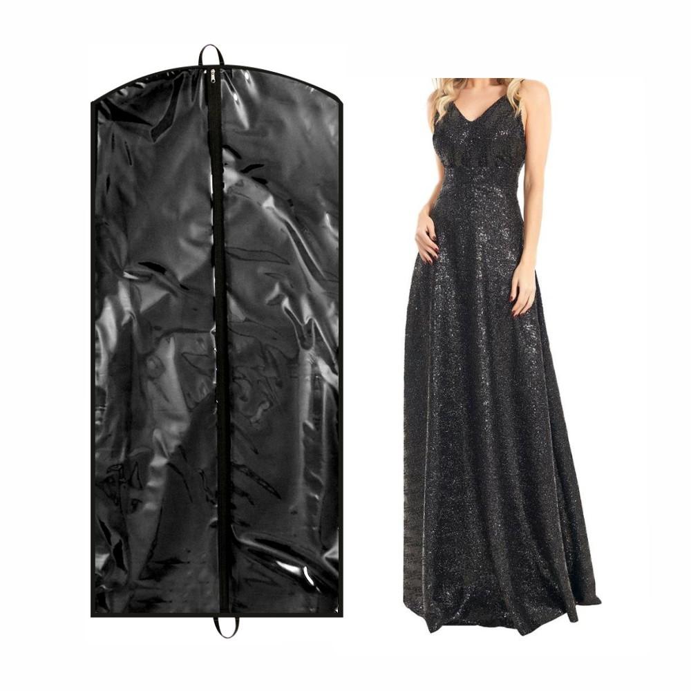Capa para Vestido de Festa Frente em PVC Cristal (transparente) - Sem Lateral