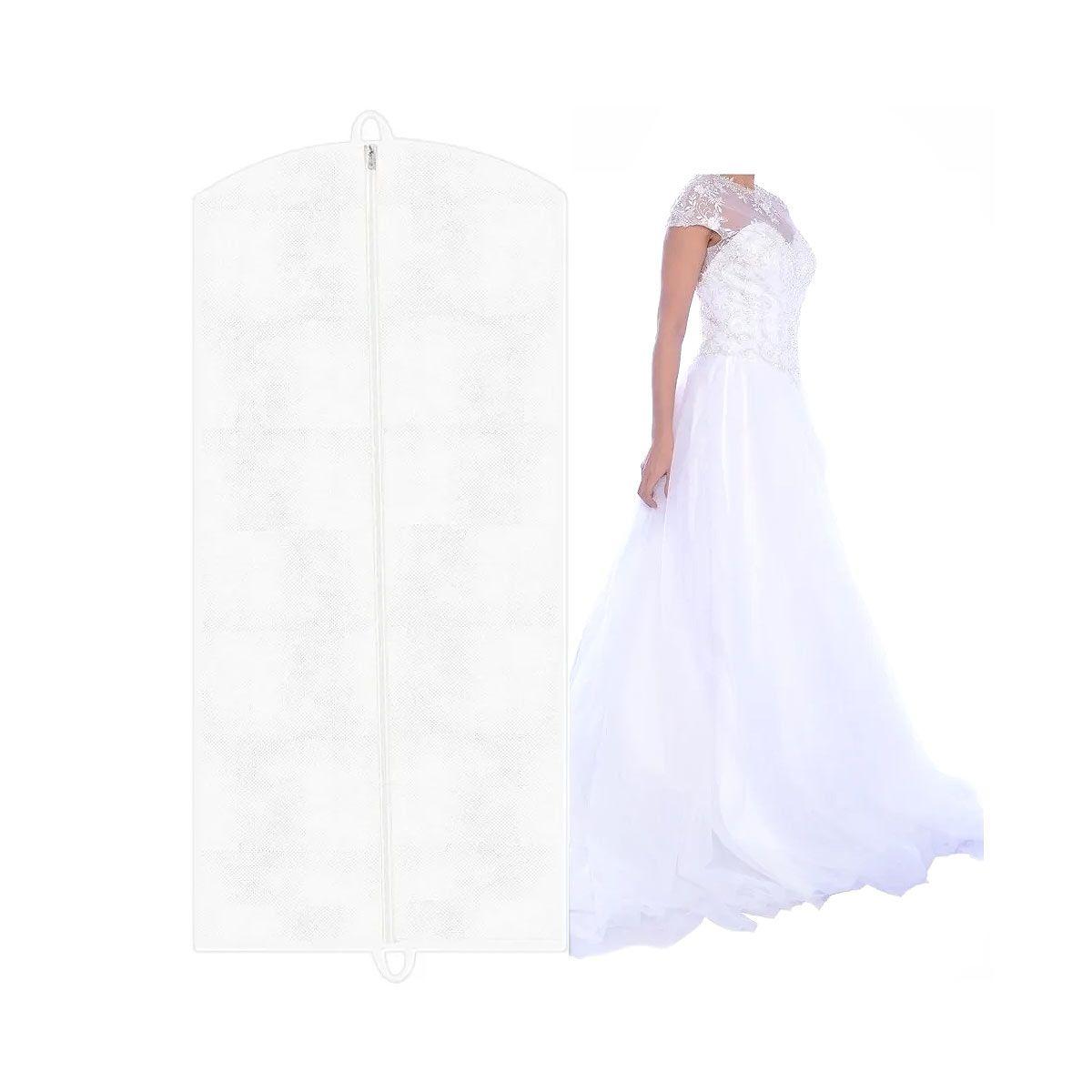 Capa Para Vestido De Noiva 100% Tnt 80 Branco