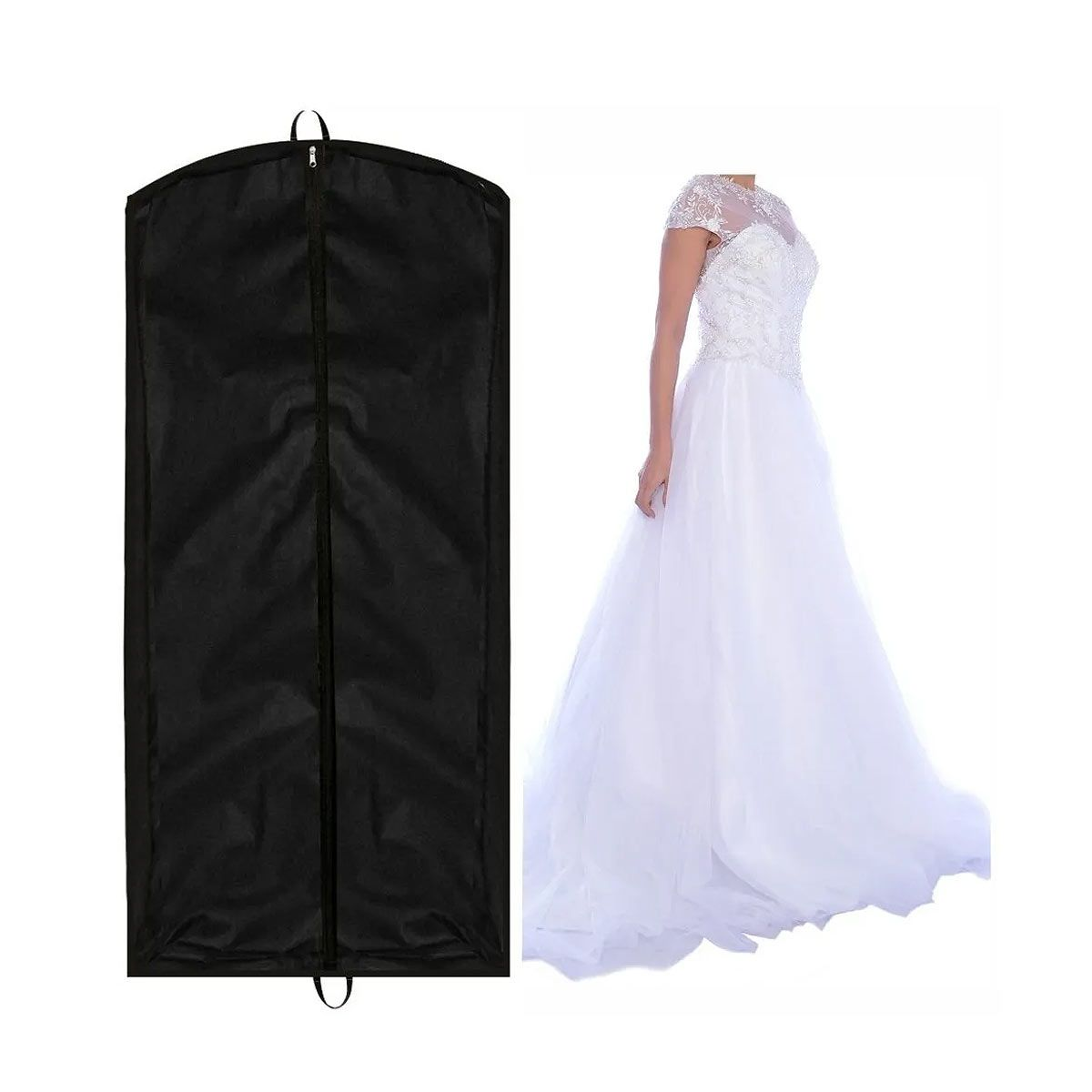 Capa Para Vestido De Noiva 100% Tnt 80 Preto