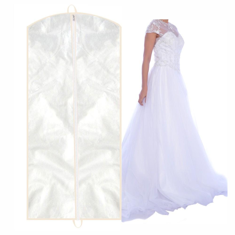 Capa para Vestido de Noiva Frente em PVC Cristal (transparente)