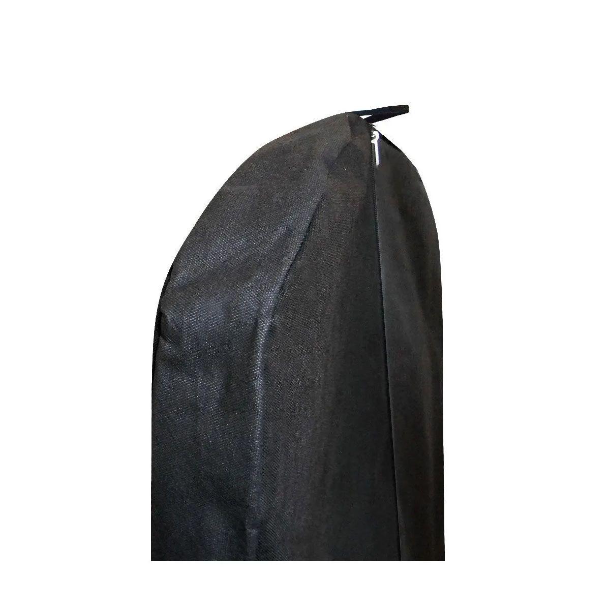 Capa Para Vestido De Noiva Preto Com Zíper 100% Tnt - Com Lateral