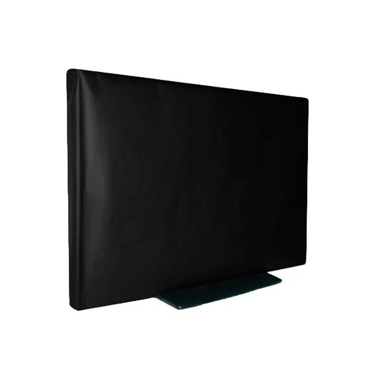 Capa Tv Lcd 55 Em Corino Com Velcro Não Sai Com O Vento
