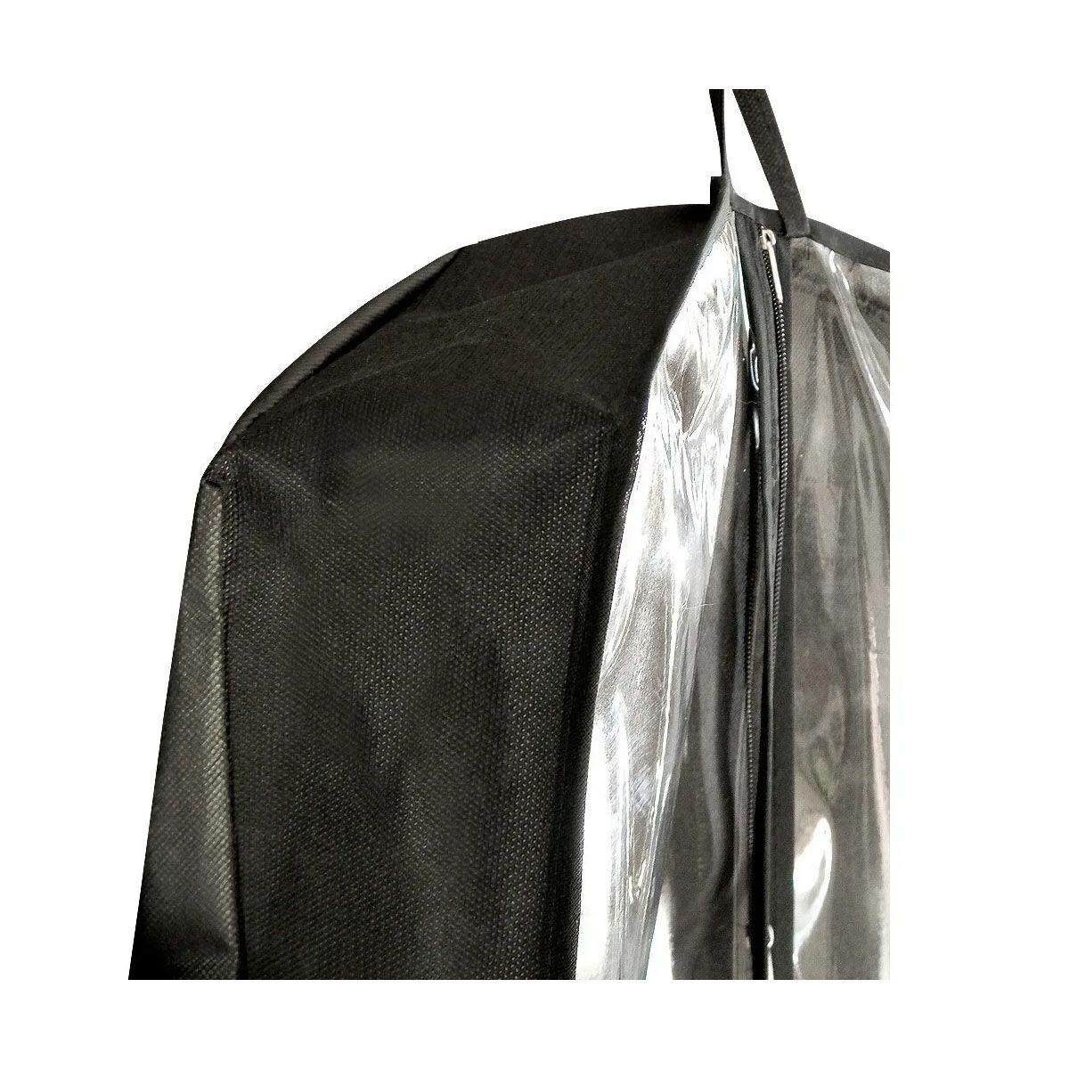 Capa para Vestido Noiva Frente em PVC Cristal (Transparente) Com Lateral