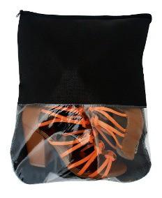 Kit com 10 Sacos para Sapato em Tnt 80g  Visor Grande 17 cm