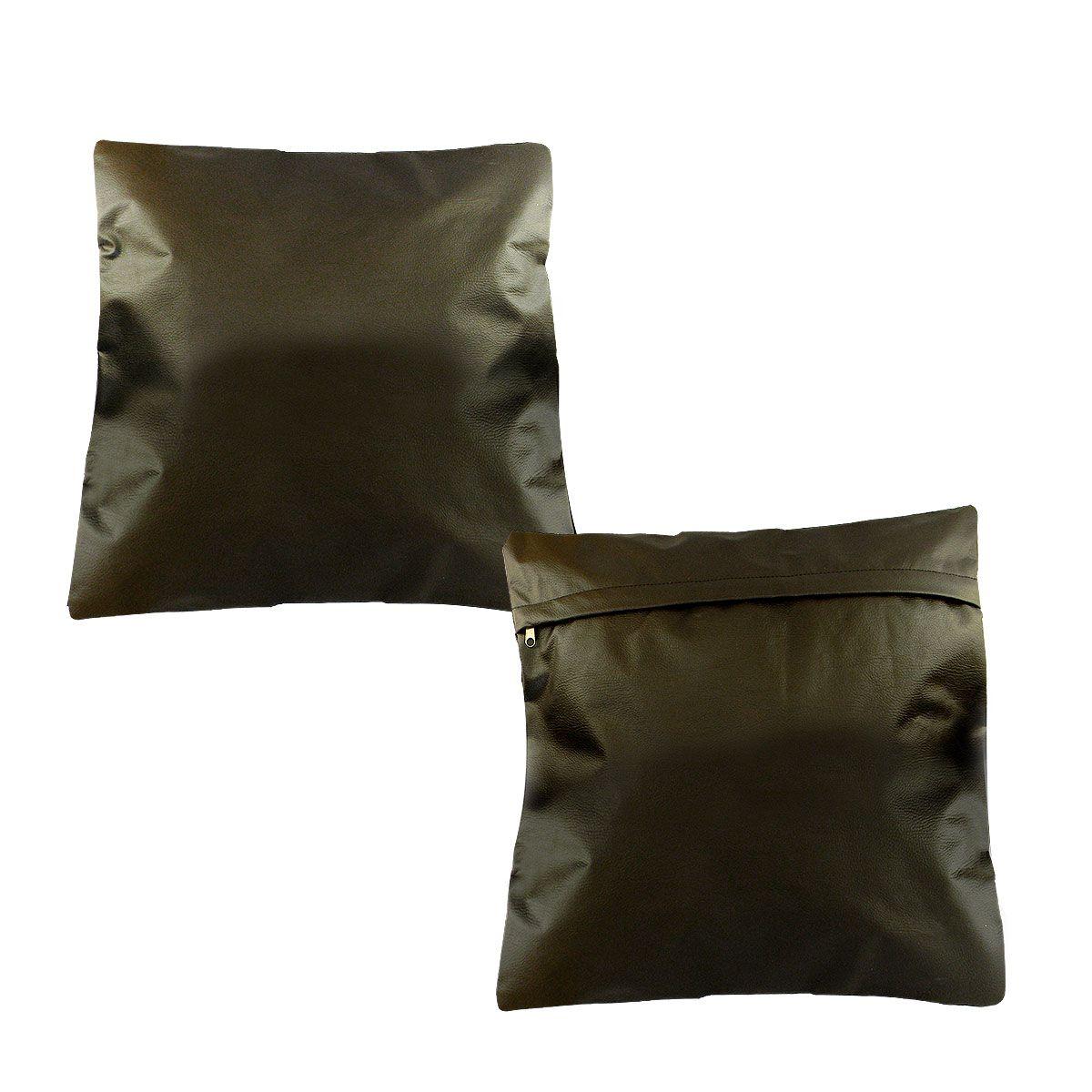 Kit 2 Capa para almofada em Corino 40 x 40 cm Impermeável