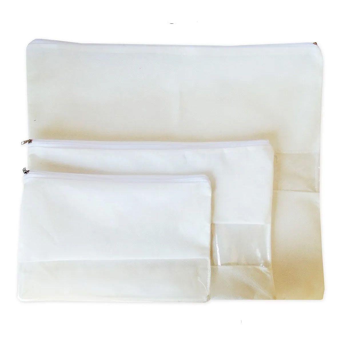 Kit Com 15 Sacos Para Bolsa Com Zíper E Visor (5p, 5m E 5g)