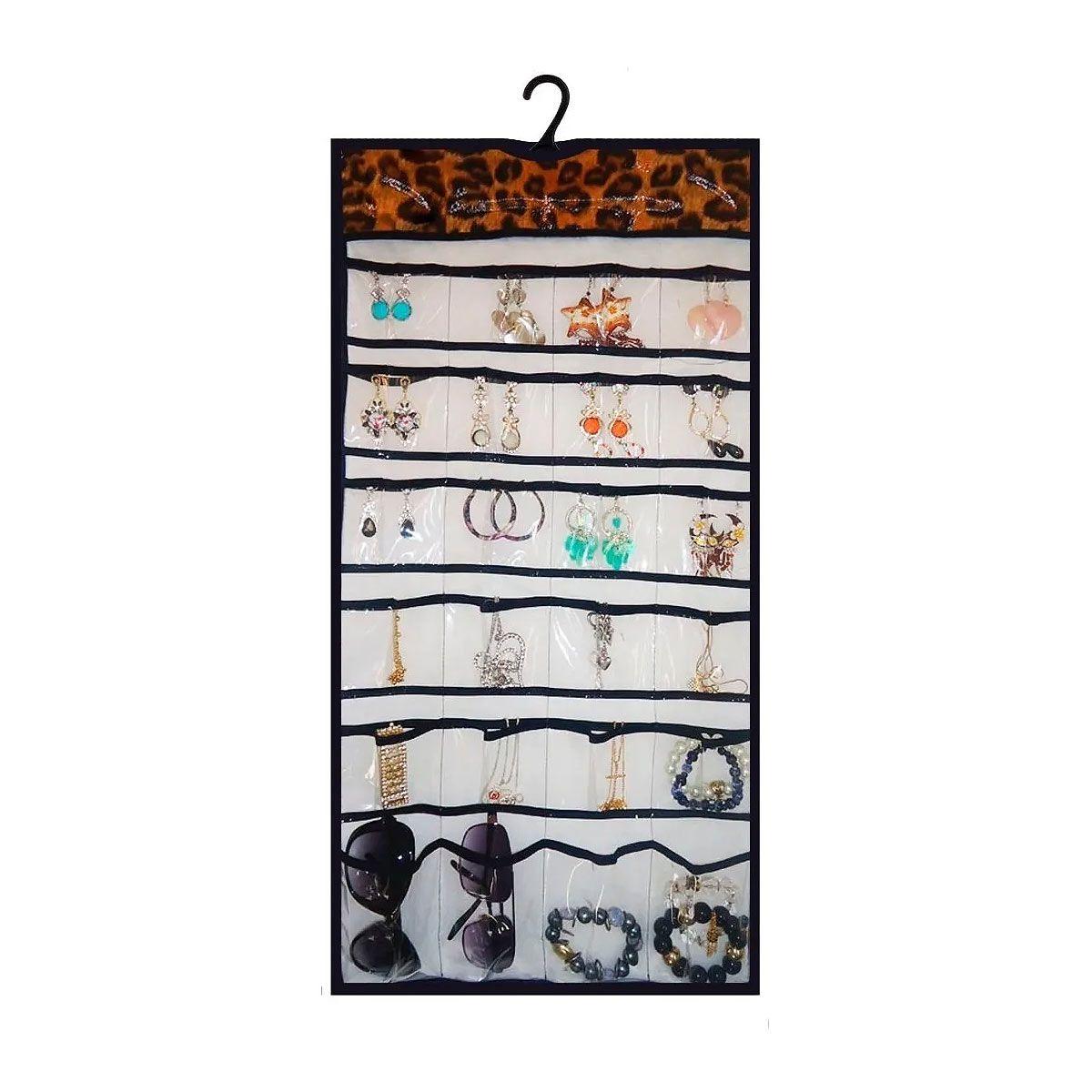 Porta Jóias/ Bijuterias. Organizador Para Pendurar No Cabide