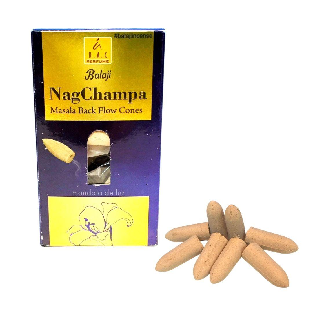 10 incensos Cone / Cascata Indiano - Nag Champa Masala Balaji Incense