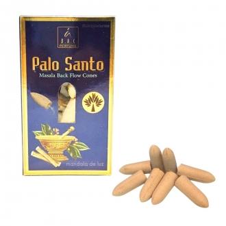 10 incensos Cone / Cascata Indiano - Palo Santo Masala Balaji Incense