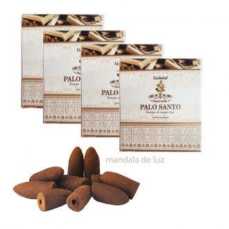40 incensos - Cone Backflow Palo Santo Cascata Goloka