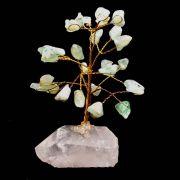 Árvore da Felicidade de Pedras Cristais Água Marinha 10cm
