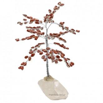 Árvore de Pedra Cristais Jaspe Vermelho 20cm
