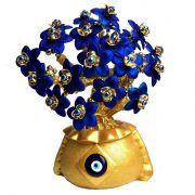 Árvore Dourada Flor de Olho Grego 25cm