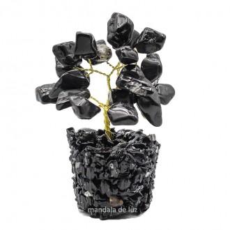 Árvore Pedras Turmalina Negra Natural 8cm