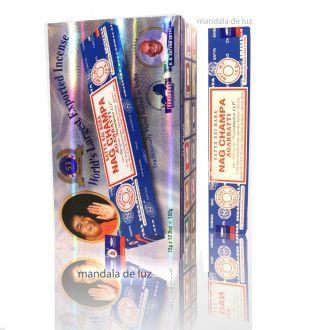 Box com 12 caixas de Incenso Nag Champa Satya Sai Baba Agarbatti - Atacado