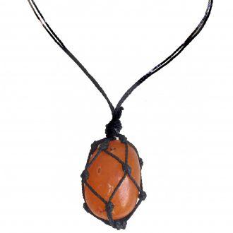 Colar de Pedra Castroada de Cornalina
