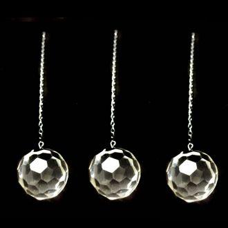 Combo de 3 Prismas Esfera Multifacetada de Cristal - Atacado