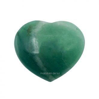 Coração de Cristal Natural de Quartzo Verde