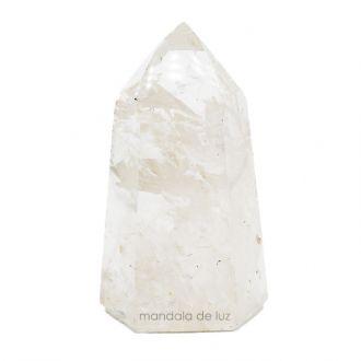 Cristal Gerador Ponta de Quartzo Transparente Branco M