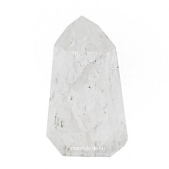 Cristal Gerador Ponta de Quartzo Transparente Branco Pedra Natural P