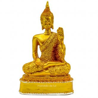 Estátua Buda Hindu Dourado 12,5cm