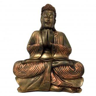 Estátua de Buda Hindu Resina Grande 40cm