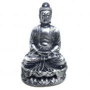 Estátua de Buda Hindu Resina Prateado 12cm