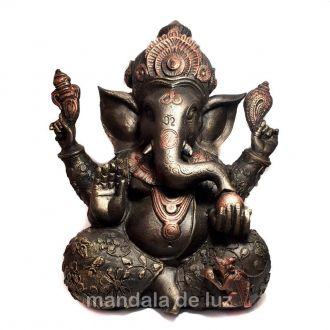 Estátua de Ganesha Grande Bronze 30cm