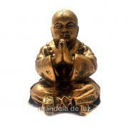 Estátua de Monge Buda Rezando Resina