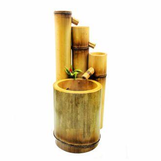 Fonte Água Bambu Feng Shui Bivolt 3 Quedas 30cm