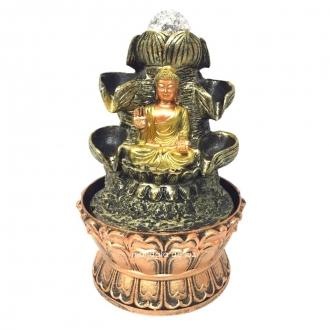 Fonte de Água Buda Hindu 6 Quedas com Bola Giratória 21cm