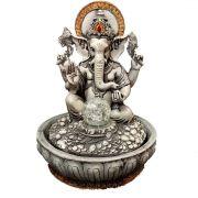 Fonte de Água Estátua de Ganesha Cinza 30cm
