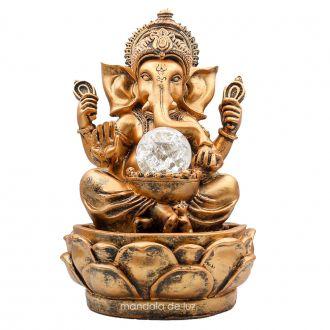 Fonte de Água Ganesha Bola Vidro Bivolt 28cm