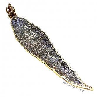 Incensário Metal Indiano de Ganesha Dourado Canoa - Porta Incenso