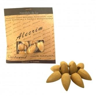 Incenso Cone 100% Natural com Florais e Óleos Essenciais Alecrim
