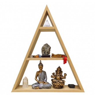 Kit Altar Pirâmide com Buda, Ganesha, Pedras, Orgonite e Japamala