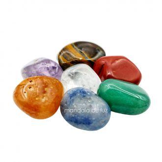 Kit de 7 Pedras dos Chakras 100% Naturais Pequenas