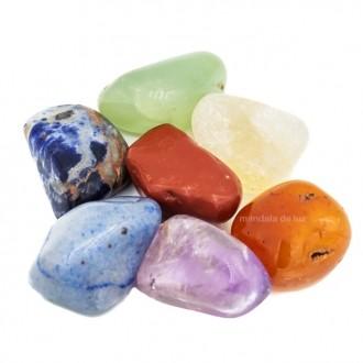 Kit de 7 Pedras dos Chakras Mandala de Luz M