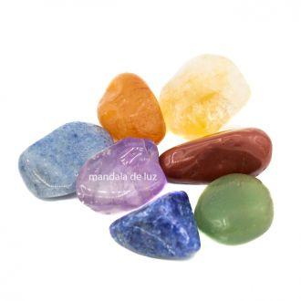 Kit de 7 Pedras dos Chakras Mandala de Luz P