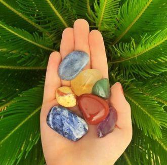 Kit de 7 Pedras Naturais dos Chakras Mandala de Luz M - 160
