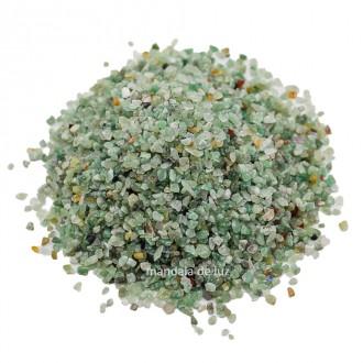 Kit de Cascalho de Quartzo Verde Pedra Natural - Miúdo 500g
