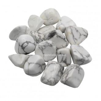 Kit de Howlita Natural Branca Pedras Cristais M 100g