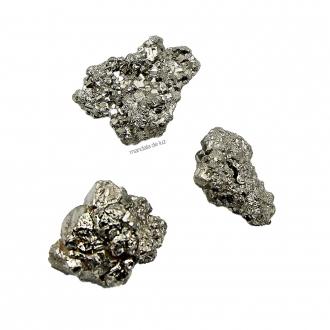 Kit de Mini Pirita Bruta Cristal Natural Pedra da Prosperidade