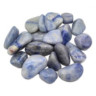 Kit de Pedra Quartzo Azul Cristal Natural M 500g