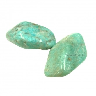 Kit de 2 Pedras Roladas Amazonita G -Cristal Pedra do Ano 2021