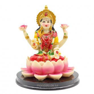 Estátua Lakshmi Deusa da Prosperidade e Riqueza 13,5cm